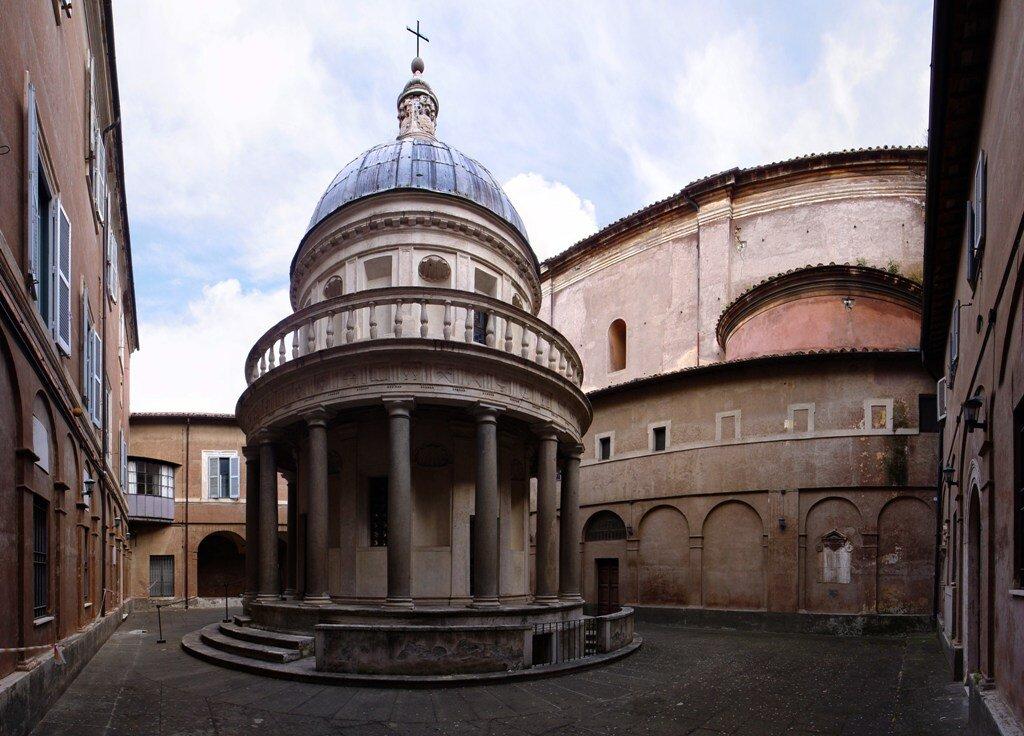 Tempietto di bramante laboratorio roma for Cortile circolare